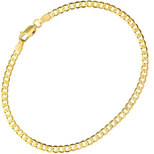 Citerna Women's 9 ct Yellow Gold Curb Bracelet of Length 19 cm 3wOqmFo00T