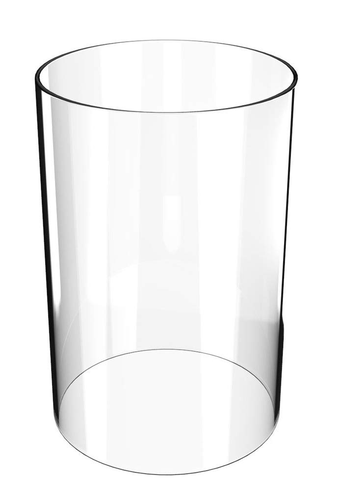 Lamp Shades Replacement-Borosilicate Glass Chimney Open-End Height 14'' Diameter 4'' - as A Wedding Housewarming Gift Large Cylinder Glass Vase- (Multiple Specifications)