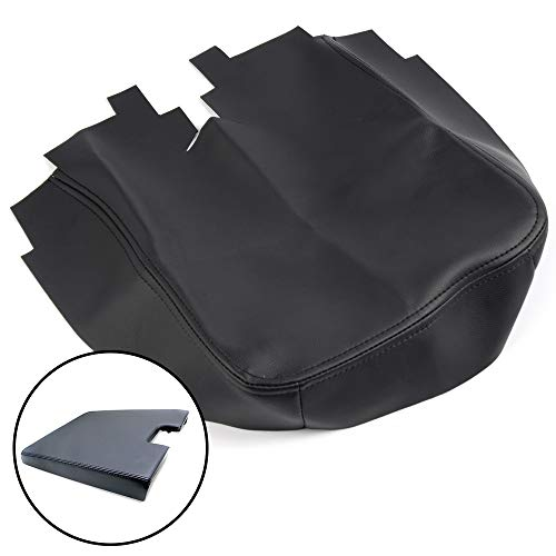 VRracing Comfortable Microfiber Leather Console Lid Armrest Cover Fit for 07-13 Chevy Silverado Tahoe Suburban Yukon Sierra with AZ3 Option 40/20/40 Split Bench Seats