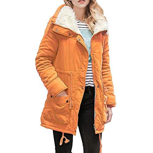 912acede4f53 D hiver Parka Manteaux Svelte Orange Long Col Lianmengmvp Manteau Aux  Femmes Chaud Capuche À xwwAfvzq
