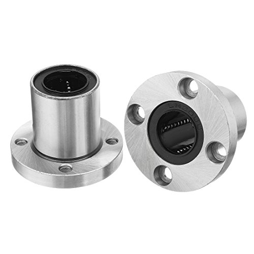 uxcell LMF20UU 20mmx32mmx42mm Round Flange Linear Motion Bushing Ball Bearing 2 Pcs