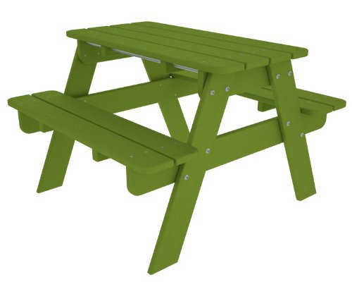 - POLYWOOD Outdoor Furniture Kid Picnic Table, Lime-Recycled Plastic Materials