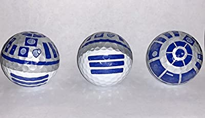R2D2 Golf Ball 3 pack