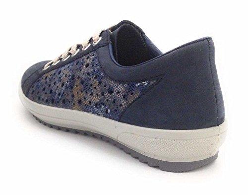 Rieker Ladies Sneakers M6015, Blu, 37 Eu Blu