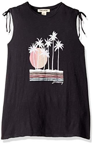 Billabong Girls' Coastal Fun Dress Off Black Small ()
