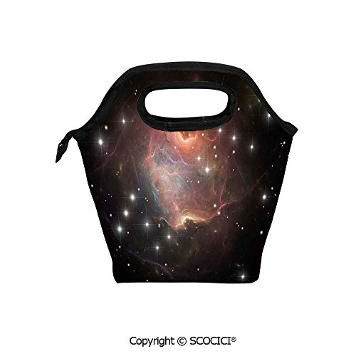 Portable thickening insulation tape Lunch bag Deep Down in Outer Space Complex Supernova Phenomenal Dynamic Universe Image for student cute girls mummy bag.
