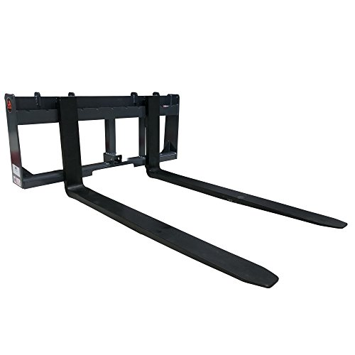UA Made in the USA 48'' Pallet Fork & Trailer Hitch Skid Steer Attachment by Titan Attachments