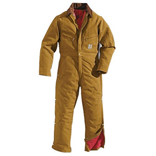 Carhartt 36 Regular Brown Quilt Lined 12 Ounce Cotton Duck Coverall by Carhartt