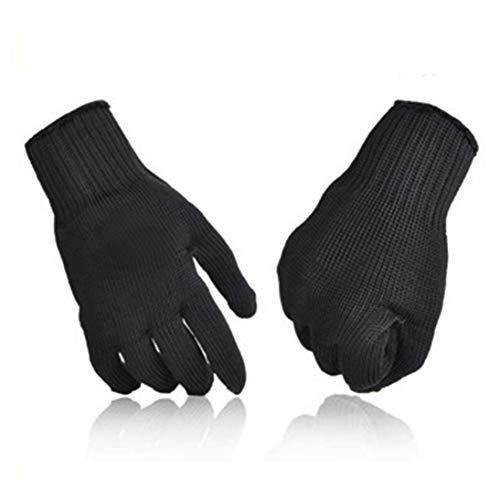 Baynne 1 Pair of Men Steel Wire Fishing Fillet Gloves Cut Resistant Thread Weave Tool Gloves Fishing Filleting Protection Knife