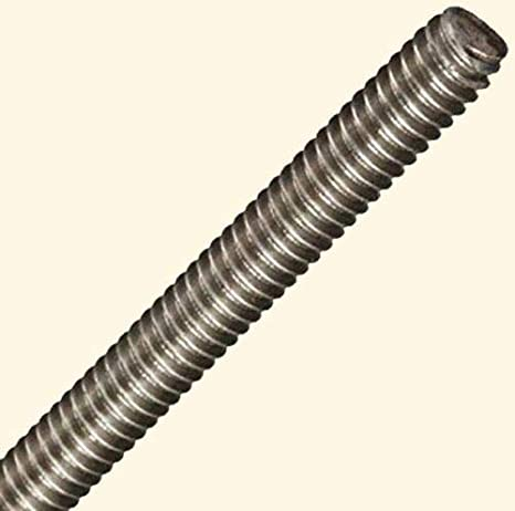 """Right 36/"""" Length 18-8 Stainless Steel Fully Threaded Rod 3//8/""""-16 Thread Size"""