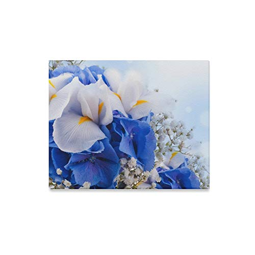 ENEVOTX Wall Art Painting Amazing Iris Earth White Blue Flower Prints On Canvas The Picture Landscape Pictures Oil for Home Modern Decoration Print Decor for Living Room