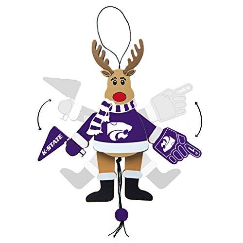 - NCAA Kansas State Wildcats Wooden Cheer Ornament