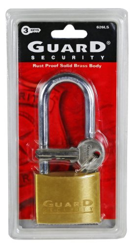 Guard Security 626LS Solid Brass 2-Inch Long Shackle -