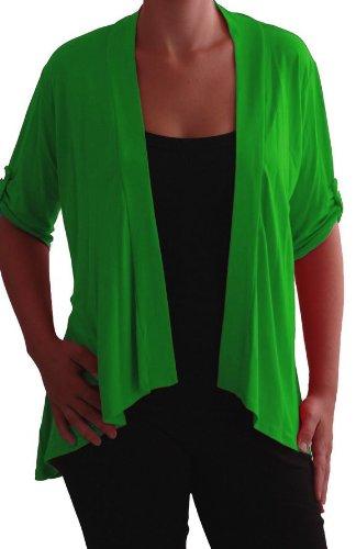 Emily Tailles Vert Eyecatch Femme Gilet en Jade ouvert cardigan jersey Grandes q0qYgxw