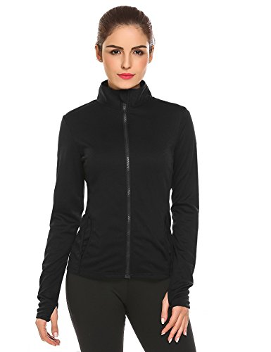 Women Turtleneck Zip Up Solid Slim Fit Active Casual Sports Jacket Fitness...