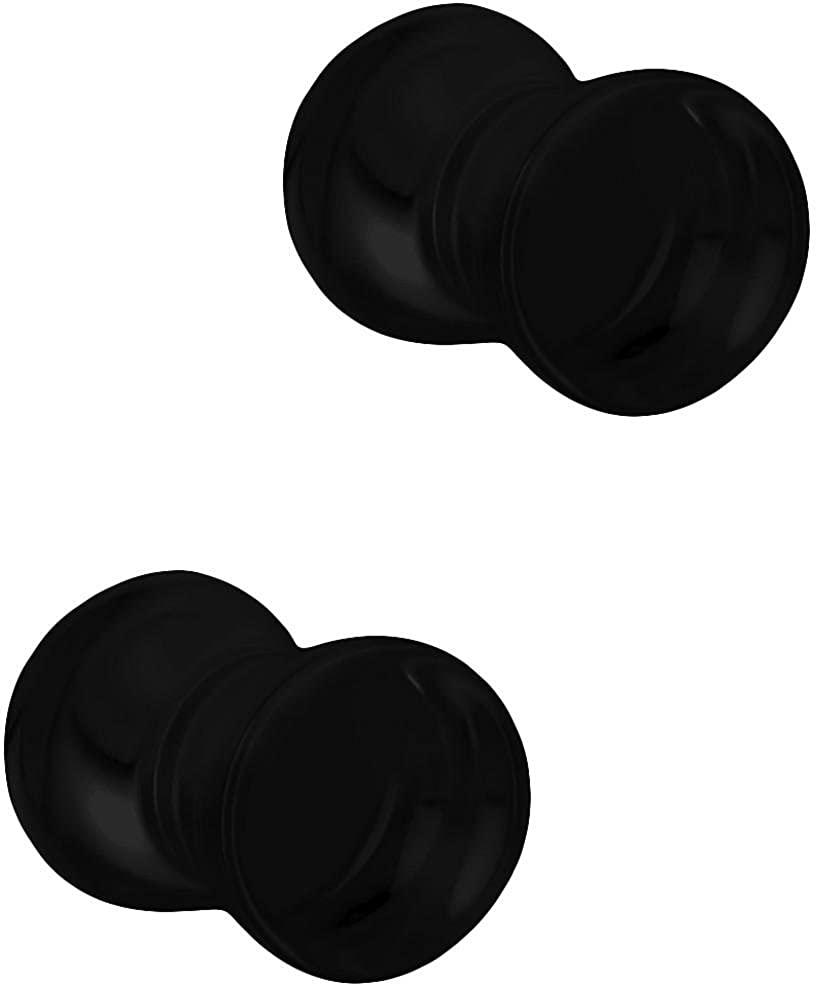 Solid Double Flared Saddle Plug Earrings Sold in Pairs Forbidden Body Jewelry 3mm 6mm Acrylic Ear Gauges