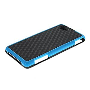 CASEPRADISE Soft Flexible Gel Tpu Silicone Etui Back Case Cover For Xperia Z1 Compact (Mini) Black Blue