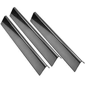 """Grill Valueparts 7635 (3-pack) BBQ Gas Grill Stainless Steel Flavorizer Bars, Heat Shield (16 Ga.) For Weber Spirit 200 Series Gas Grills With Front-Mounted Control Panels (Dims: 15 1/4"""" x 3 1/2"""") by Real Value Metals"""