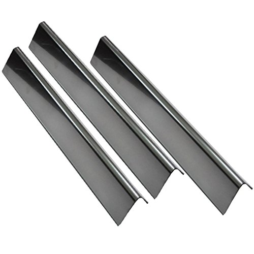 Grill Valueparts 7635 (3-pack) BBQ Gas Grill Stainless Steel Flavorizer Bars, Heat Shield (16 Ga.) For Weber Spirit 200 Series Gas Grills With Front-Mounted Control Panels (Dims: 15 1/4'' x 3 1/2'') by Grill Valueparts