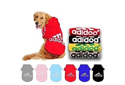 New Fashion Adidog Autumn Winter Cotton Pet Dog Jacket Sweater Clothes Hoodie Coat (color: Black, size: 2) Xuanyun