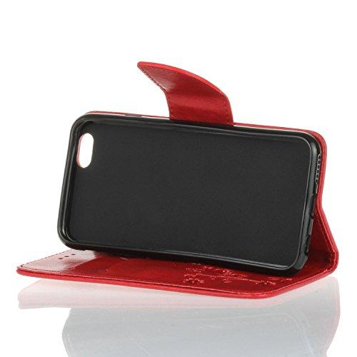 Cozy Hut iPhone 6 Plus / 6S Plus (5,5 Zoll) Hülle,iPhone 6 Plus / 6S Plus (5,5 Zoll) Leadertasche Premium Lederhülle Flip Case im Bookstyle Folio Cover Kartenfächer Magnetverschluss und Standfunktion