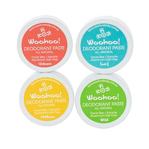 Woohoo! Body All-Natural Deodorant Paste (4 Pack, Trial Size) ...