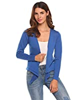 Women's Casual Long Sleeve Tie Open Front flyaway Drape Knit Cardigan Sweater