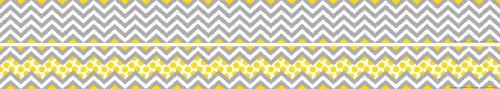 - Barker Creek - Office Products Double-Sided Bulletin Board Border, Chevron Gray & Yellow, 35' (LL-985)