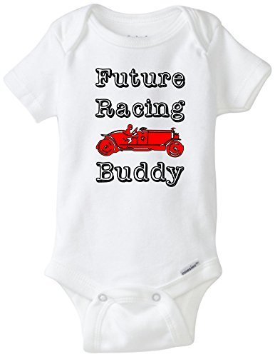 9c17ac719 BLAKENREAG Future Racing Buddy Funny Baby Onesie Baby Boy Girl Clothes  (Newborn)