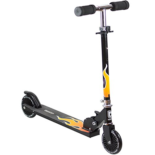 bopster 2 Wheeled Folding Children's Kick Scooter – Flame