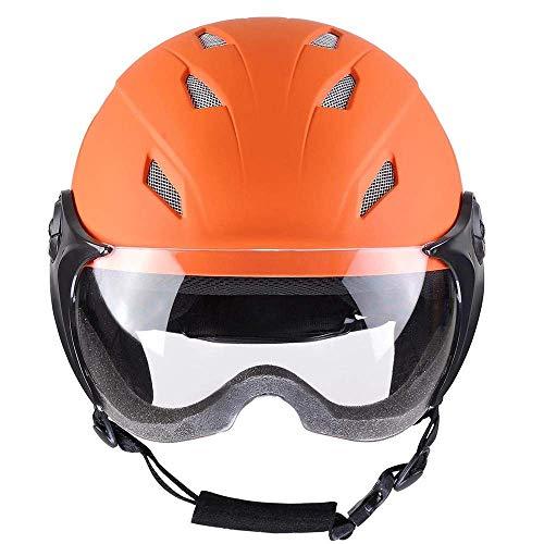 Snow Sports Helmet w/Premium EPS Liner ASTM Safety Certified for Skiing Snowboard Skating Skateboard Protective (Matte Orange, S)