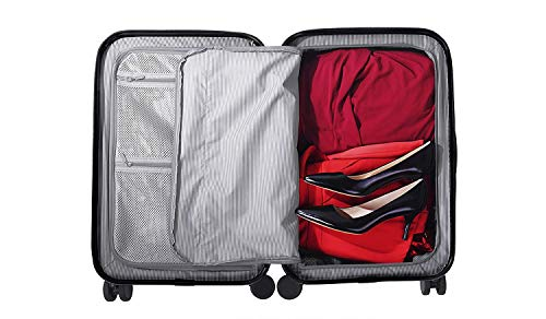 90ac2e346019 CHESTER Carry-On Luggage//22 Lightweight Polycarbonate Hardshell ...
