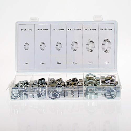 Swordfish 32310 2 Ear Clamp Assortment, 125 Piece