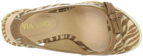 Camel Uno Via femme Brun Padova Textil Sandales 21173601 Zebra Synthetic BwqfxzHw