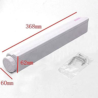 3.7M 5 Line Retractable Clothes Washing Line Laundry Wall Mount Dryer Rack