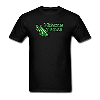 ZHENGXING Men's University Of North Texas Logo UNT T-Shirt S ColorName Short Sleeve