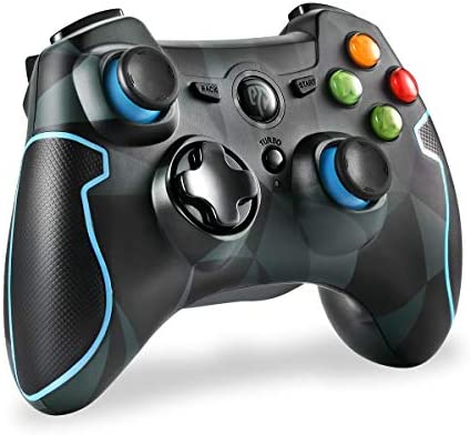 EasySMX 2 4G Wireless Controller for PS3, PC Gamepads with Vibration Fire  Button Range up to 10m Support PC,Laptop, Android and TV BOX