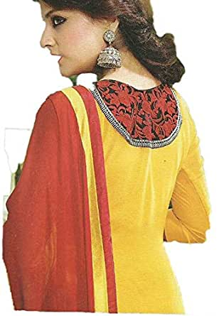 Yellow Casual Kameez & Salwar Set For Women