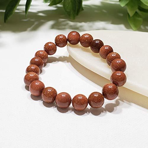 - Goldstone Gemstone Stretch Bracelet, Elastic Beaded Bracelet, Healing Crystals
