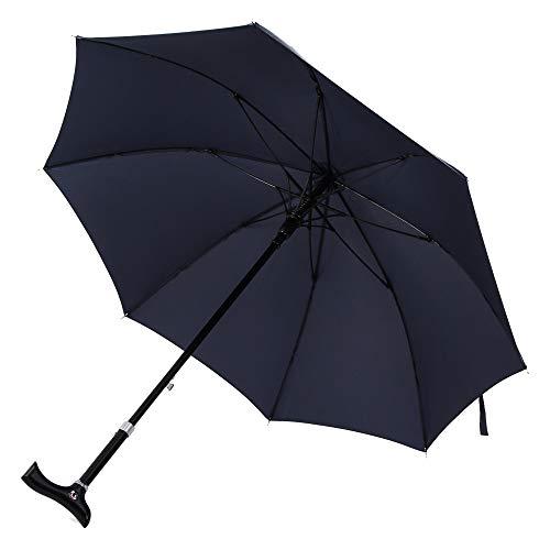 Handmade Umbrella - Saiveina 49 inch Adjustable Walking Stick Umbrella, Windproof UV Protection Cane Umbrella