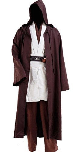 Costume Wan Adults Kenobi Obi (Allten Men's Cosplay Costume Star Wars Obi-wan Kenobi Jedi Tunic)