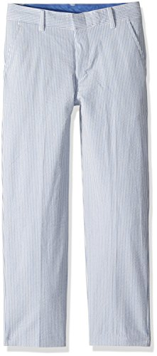 Izod Big Boys' Formal Dress Pant, Seersucker Blue, ()
