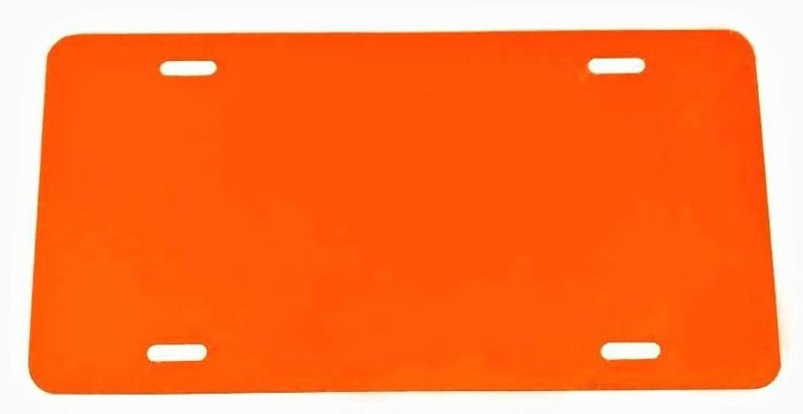 - 12x6 Partsapiens Corp Anodized Aluminum License Plate Blank Heavy Gauge .040 1mm