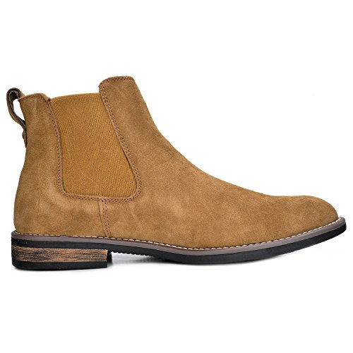 a1ed019bc8727 Bruno Marc Men's Urban-06 Tan Suede Leather Chukka Ankle Boots – 10 M US