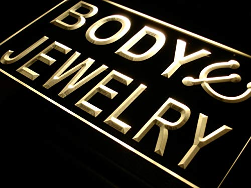 (ADVPRO Body Jewelry Piercing Shop Bar LED Neon Sign Yellow 12 x 8.5 Inches st4s32-i540-y)