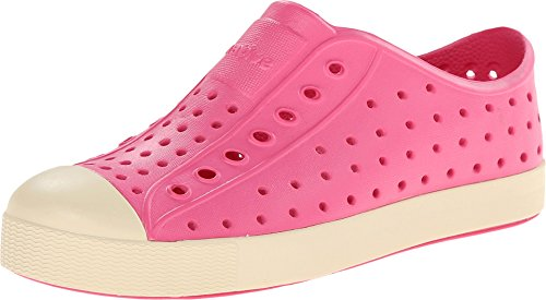Native Footwear Jefferson G Slip Ons Hollywood Pink/Bone White Girls 2