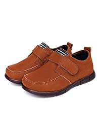 JINANLIPIN Boys Slip-On Suede Oxfords Dress Shoes Non-Slip Comfort Casual Shoes (Toddler/Little Kids)