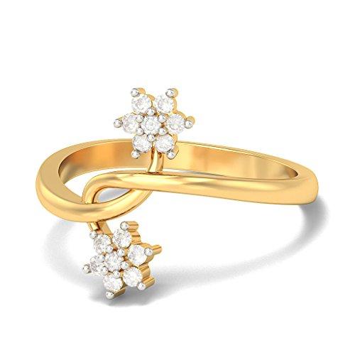 Or jaune 18K, 0.16carat Diamant Blanc (IJ | SI) en diamant