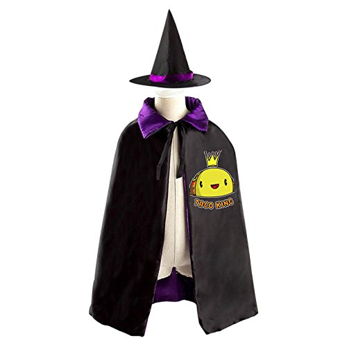 Witch King Costume Pattern (Hello Halloween Taco King Wizard Witch Kids Cape With Hat Party Cloak)