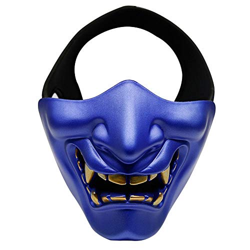 FOONEE Half Face Mask, Halloween Costume Cosplay BB